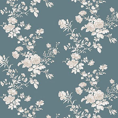 Họa tiết in hoa trên giấy dán tường
