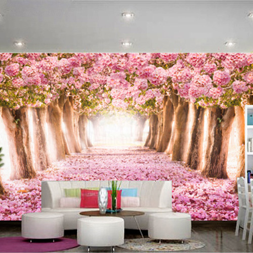 Tranh dán tường 3D hình hoa