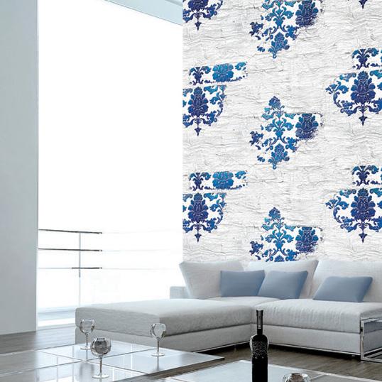 Mẫu giấy dán tường nổi bật cho phòng khách