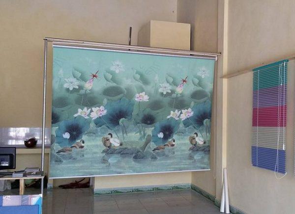 Rèm cuốn tranh phong thủy