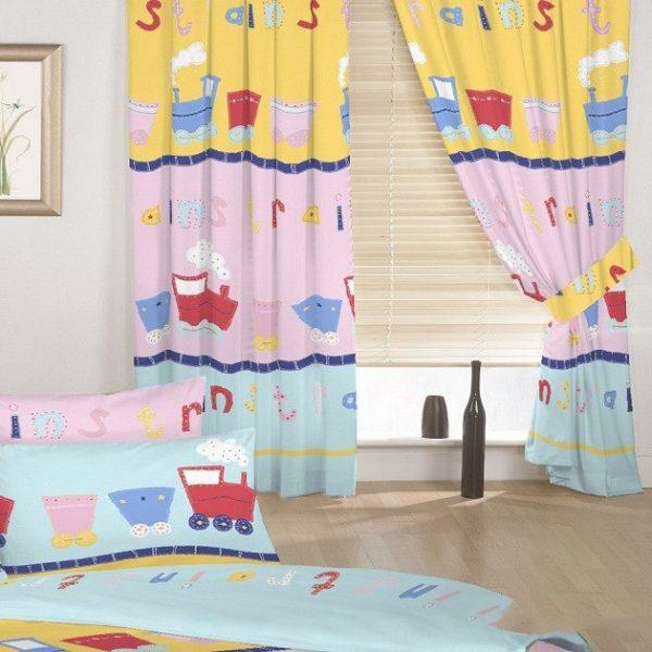 Họa tiết đơn giản cho rèm phòng bé trai