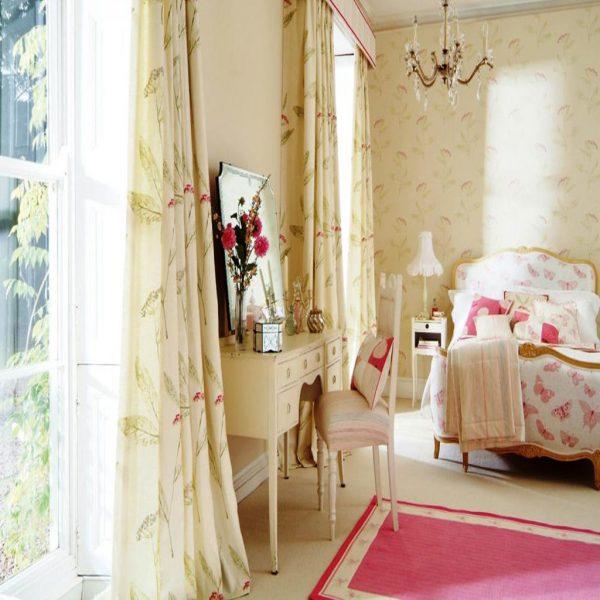 Rèm vải phòng ngủ mang phong cách trang nhã